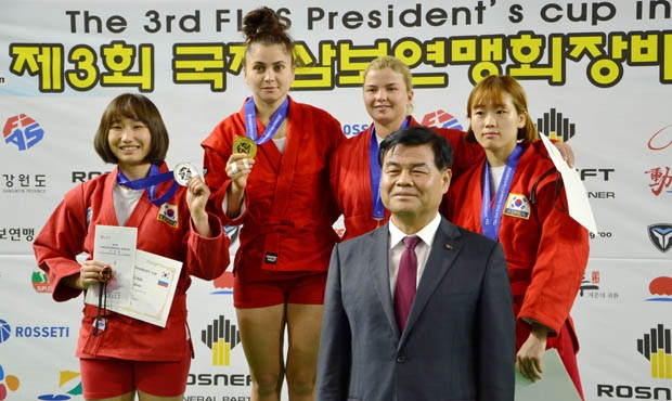 Interviews with winners and medalists on the 2nd day of the 2017 FIAS President's SAMBO Cup