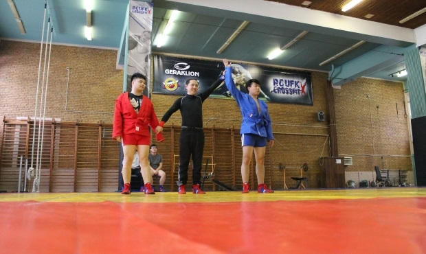Chinese athletes came to Russia to train in sambo