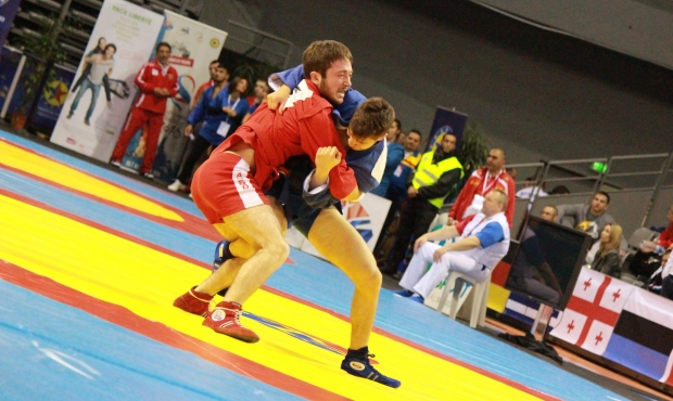 Winners and prize-winners of the second day of the European Youth and Juniors Sambo Championships