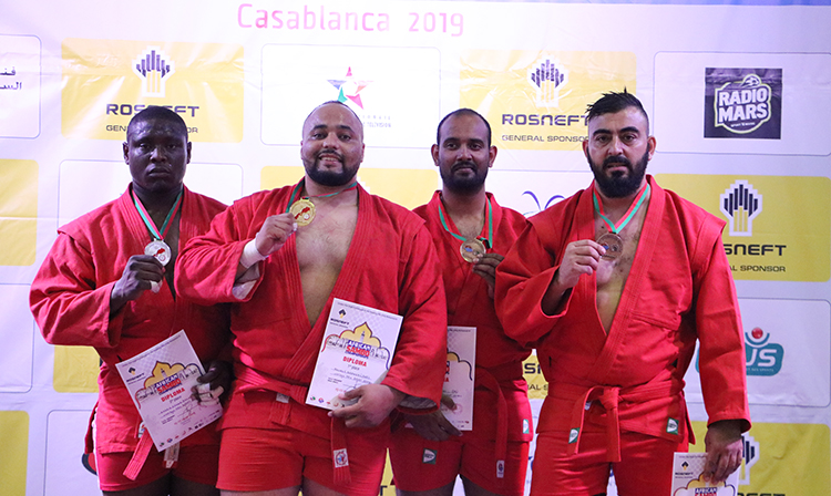 Winners of the 2nd Day of the African SAMBO Championships