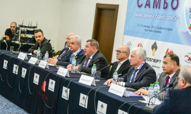 Press conference on the eve of the World Sambo Championships in Sofia