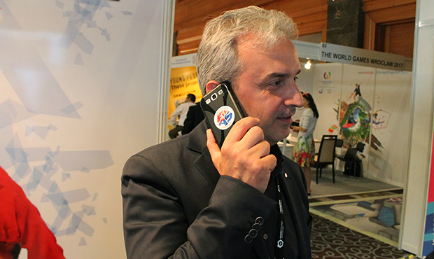 Branded phone of the FIAS Secretary General Roberto Ferraris