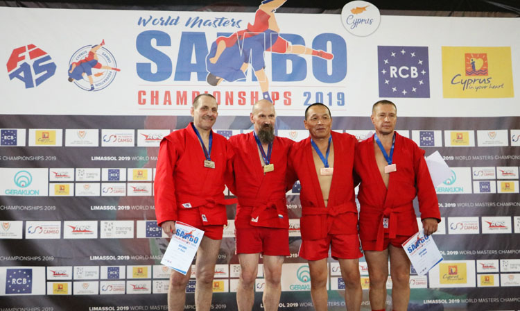 Winners of the 1st Day of the World Masters SAMBO Championships