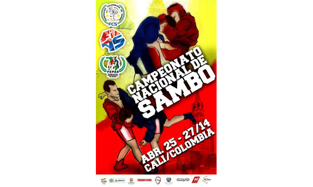 Poster of the National Sambo Championships in Columbia
