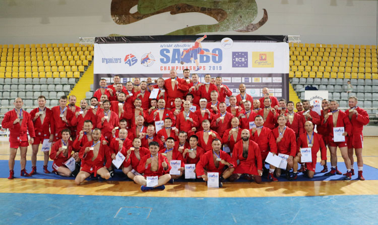 Winners of the 2nd Day of the World Masters SAMBO Championships