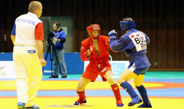 Winners and prize-winners of the Second Day of the World Sambo Championship 2014
