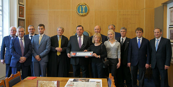 "On May, 8, 2013 the ""Freedom of City of London"" was granted to Vasily Shestakov, Russian Parliament (Duma) MP and the President of International Sambo Federation (FIAS)."