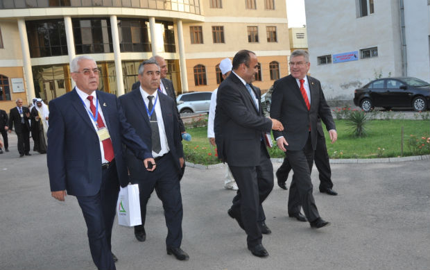 Thomas Bach in Tajikistan about Sambo