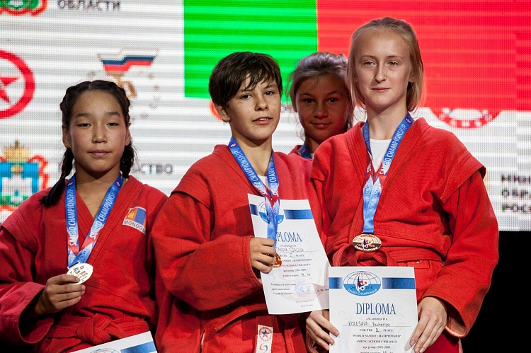 Winners of the 1 Day of the World Schools SAMBO Championships