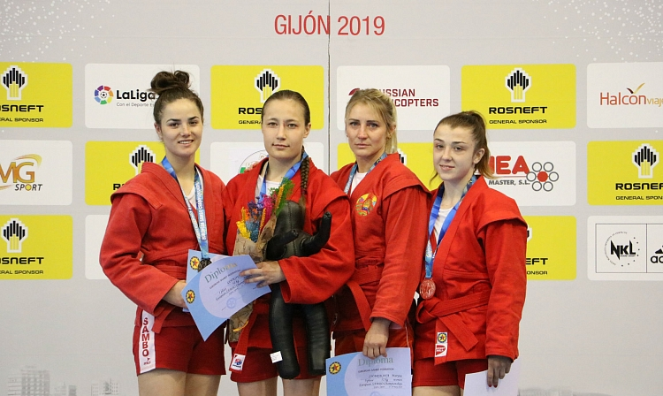 Winners of the 2nd Day of the European SAMBO Championships in Gijon