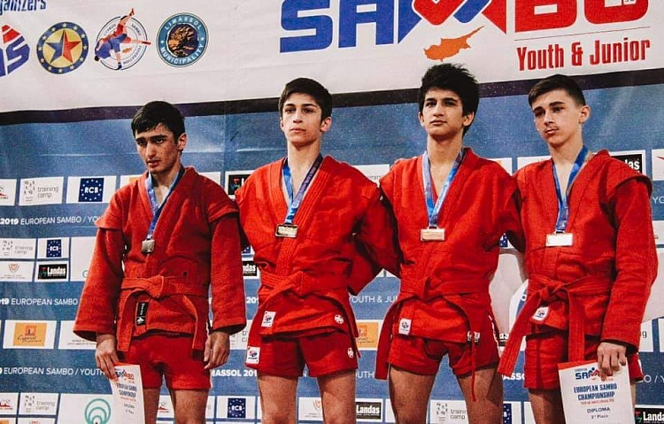 Winners of the 1st Day of the European Youth and Junior SAMBO Championships on Cyprus