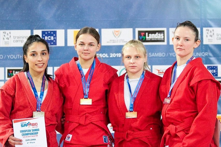 Winners of the 2nd Day of the European Youth and Junior SAMBO Championships on Cyprus