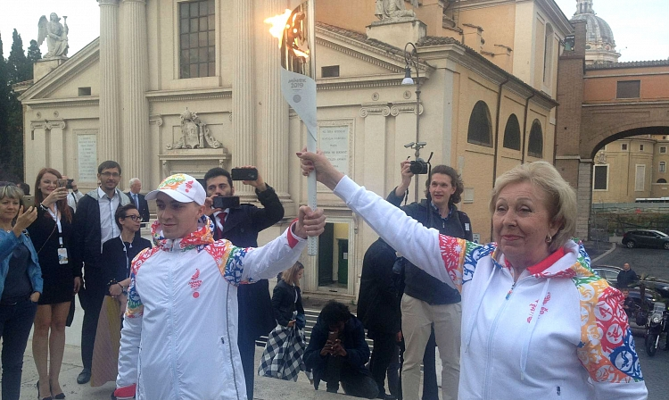II European Games Flame Lit in Rome –  Sambists to Help Deliver it to Minsk